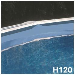 Liner bleu uni piscine hors sol ovale 915 x 470 x 120 cm 40/100