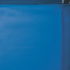 Liner bleu uni overlap 75/100 - Piscine hors sol GRE, 10 x 3,75m x h 1,20m
