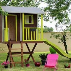 Cabane dans les arbres maisonnette en bois pour enfants for Petite cabane de jardin en bois