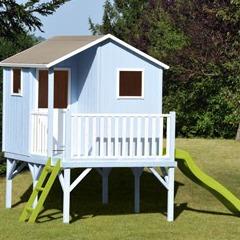 Maisonnette en bois sixtine sur pilotis jardin Plan maisonnette en bois sur pilotis