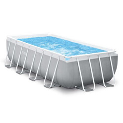 Intex piscine tubulaire prism frame 4 88 x 2 44 x h1 07m for Piscine intex rectangulaire