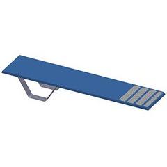 Plongeoir droit Ballesta L1.40 x H0.25m Bleu Ciel