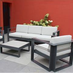 Brisbane - Salon de jardin en aluminium laqué anthracite | Jardin ...