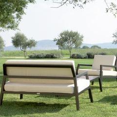 Salon bas de jardin Modéna en aluminium noir