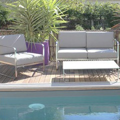 salon de jardin chaleureux et confortable venize 4 places piscine center net. Black Bedroom Furniture Sets. Home Design Ideas