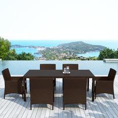 salon table et chaises de jardin en r sine 6 fauteuils piscine center net. Black Bedroom Furniture Sets. Home Design Ideas