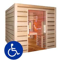 Sauna vapeur et infrarouge hybride combi access 4 places