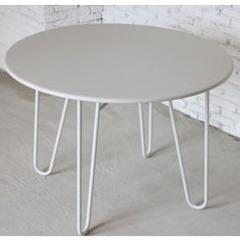Petite table de jardin ronde m tal blanc jardin Table de jardin aluminium blanche