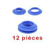 12 oeillets à frapper plastique bleu