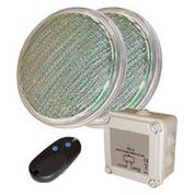 2 lampes led piscine couleur par 56 rvb 20 w télécommande