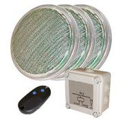 3 lampes led piscine couleur par 56 rvb 20 w télécommande
