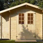 Abri en bois brut - Buffalo - 4,24 m² - 19 mm