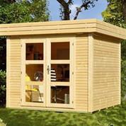 abri de jardin en bois contemporain jardin. Black Bedroom Furniture Sets. Home Design Ideas