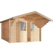 Abri en bois brut - Nicaragua - Porte double - 8,64 m² - 28 mm