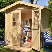Abri en bois brut - Stuart - 3,45 m² - 19 mm