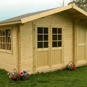 Abri de jardin en bois brut Borkum 1 - 8,90 m² - 40 mm