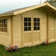 Abri de jardin en bois brut Borkum 2 - 11,20 m² - 40 mm