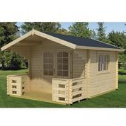 Abri en bois brut - Capri 44 - 8,50 m² - 44 mm