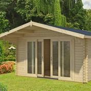 Abri de jardin en bois brut - Gotland 5H - 14,50 m² - 44 mm