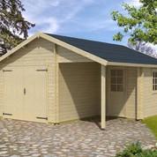 Garage en bois d'épicéa Nevis A