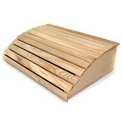Appuie-tête bois pour sauna