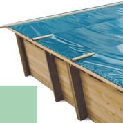 Bache à barres amande pour piscine bois original 620 x 420 - 790206