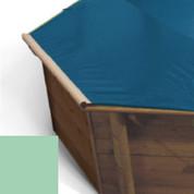 Bache à barres amande pour piscine bois original 428 X 428