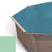 Bache à barres amande pour piscine bois original 434 x 434