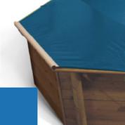 Bache à barres bleu pour piscine bois original 428 X 428
