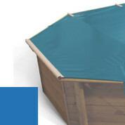 Bâche à barres bleu pour piscine bois original 500 x 500 - 779810