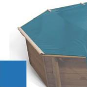 Bache à barres bleu pour piscine bois original 560 x 560
