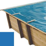 Bâche à barres bleu pour piscine bois original 815 x 420 - 790207