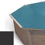 Bâche à barres carbone pour piscine bois original 500 x 500 - 779810
