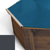 Bache à barres carbone pour piscine bois original 428 X 428