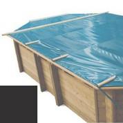 Bache à barres carbone pour piscine bois original 872 x 472
