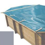 Bache à barres gris pour piscine bois original 436 x 336