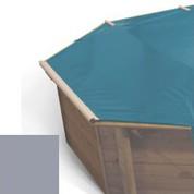 Bache à barres gris pour piscine bois original 537 x 537