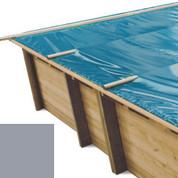 Bâche à barres gris pour piscine bois original 815 x 420 - 790207