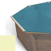 Bâche à barres sable pour piscine bois original 500 x 500 - 779810