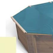 Bache à barres sable pour piscine bois original 434 x 434