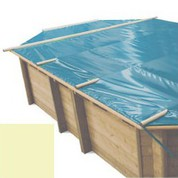 Bache à barres sable pour piscine bois original 551 x 351