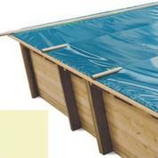 Bache à barres sable pour piscine bois original 800 x 400