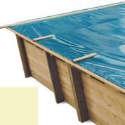 Bâche à barres sable pour piscine bois original 815 x 420 - 790207