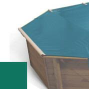 Bâche à barres vert pour piscine bois original 500 x 500 - 779810