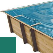 Bâche à barres vert pour piscine bois original 815 x 420 - 790207