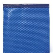 Bâche à bulles 400µ bordée 2 côtés bleu 9 x 4