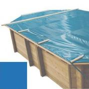 Bache à barres bleu pour piscine bois original 735 x 410