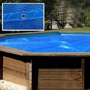 Bâche été rectangulaire pour piscine bois Anise 8,70 x 2,80 m 400µ