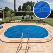 Bâche été rectangulaire pour piscine enterrée 1000 x 500 cm 180 microns