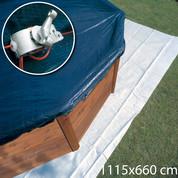 Bâche hiver 1115 x 660 cm - Piscine hors sol Gré ovale 1000 x 550 cm